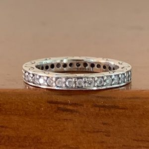 Pandora 'Retired' Sterling Silver Eternity Ring